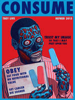The REAL Bill Cosby - Inspired by THEY LIVE by HalHefnerART