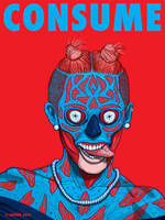Miley Cyrus CONSUME art series THEY LIVE by HalHefnerART