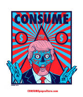 CONSUME - DONALD TRUMP - 7 Deadly Sins GREED by HalHefnerART