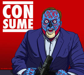 Alex Jones - CONSUME-Hal Hefner THEY LIVE by HalHefnerART