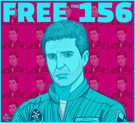 FREE THE 156 - Hal Hefner- Mute - Moon-2 by HalHefnerART