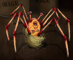 THE THING - TRUMP SPIDER HAL HEFNER by HalHefnerART