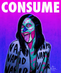 Cardi B CONSUME-THEY LIVE- Hal Hefner by HalHefnerART