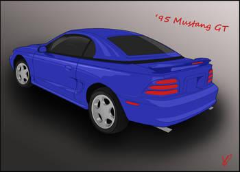 1995 Mustang by RedHeadWolf