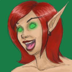 Blood Elf by RedHeadWolf