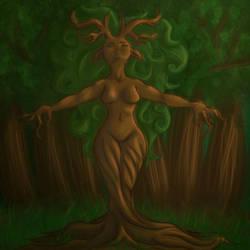 Tree Lady by RedHeadWolf