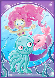 Loving Triangle under the sea by Cukismo