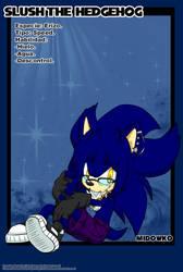 Slush the Hedgehog by Midowko
