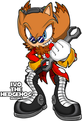Ivo EGGMAN the hedgehog by Midowko