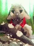 Sold-New fursuit angel dragon partial by Midowko