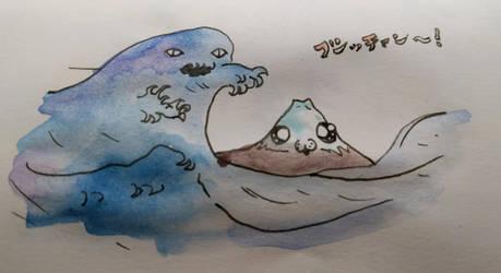 Mt Fuji Watercolour by pushka