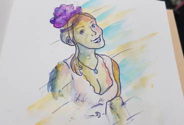 Watercolour - Friend of friend by pushka