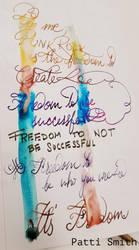 Fountain Pen Quote - Patti Smith by pushka