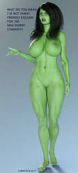She Hulk - Kelly 8001 by shulkophile