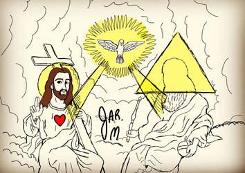 Rough Sketch Of Trinity of God by DisneyJared23