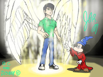 Sorcerer Mickey Saw JMan Become a Angel Of Light by DisneyJared23
