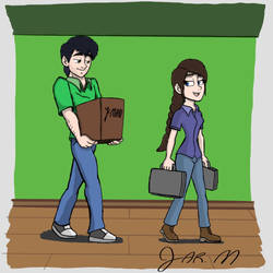 J-Man moves Lily in to her Apartment by DisneyJared23