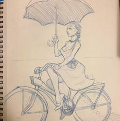 ImageGirl on bike by Duncecap-Dan