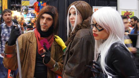 NYCC 2012 - Gambit, Rogue, and Black Cat by BluePhoenix-Ra