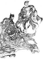 Batman and Superman by denart
