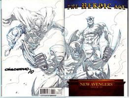 avengers cover spread by denart