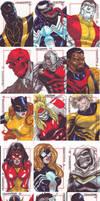 Marvel Sketch Cards by denart