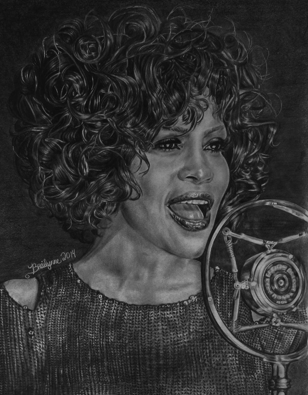 Whitney Houston by brailynne