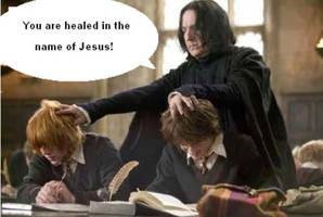 Snape the Faith Healer by Piman-dono