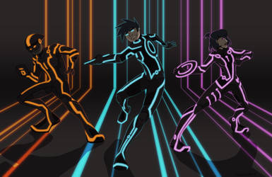 phantom trio goes tron by Sarapsys