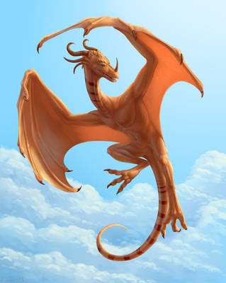 Wyvern in the sky by ChaiChai2016