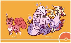 Pokemon #037-038 by Cosmopoliturtle