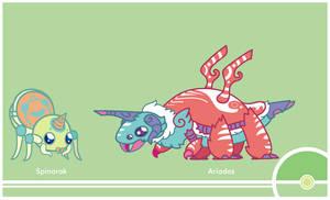 Pokemon Redesign #167-168 by Cosmopoliturtle