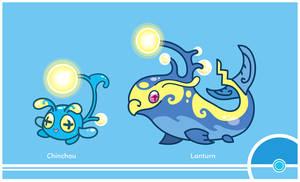 Pokemon #170-171 by Cosmopoliturtle