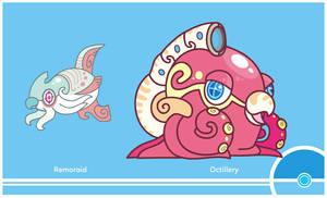 Pokemon #223-224 by Cosmopoliturtle