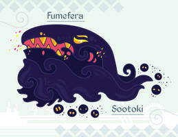 Hiraeth Creature #850 - Sootoki/Fumefera by Cosmopoliturtle