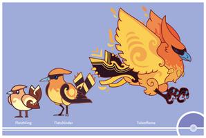 Pokemon #661-662-663 by Cosmopoliturtle