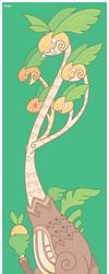 Pokemon #103 Alola Form by Cosmopoliturtle