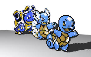Water Trio, no blur by 8-bit-Anon