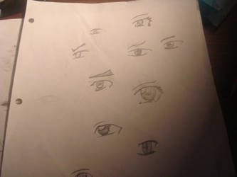 Practice Anime Eyes by JDxImpetus