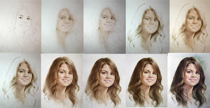 430. Selena. Drawing Tutorial by yakovdedyk