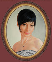 The oval portrait. oil painting 1047 / 2013 by yakovdedyk