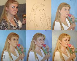 1043. portrait oil painting. WIP #1 by yakovdedyk