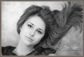 portrait dry brush #1036 by yakovdedyk