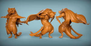 Stoat 3D shots by NBQuaternion