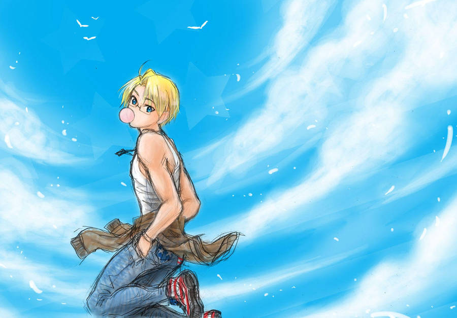 aph america blue sky by mikitaka