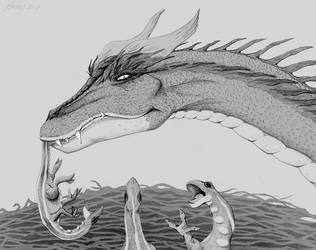 Dragon Mommy by Harley-1979