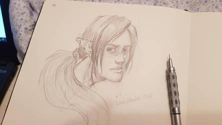 Sketchtember 02 Elfes by Nowio