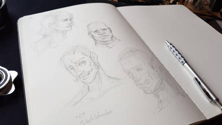 Sketchtember 07 Some Heads by Nowio