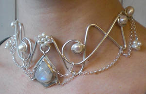 Moonstone Necklace by fairyfrog