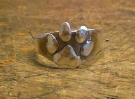 Paw Print ring by fairyfrog